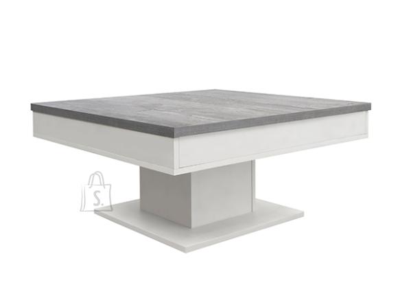 Mäusbacher Möbelfabrik Diivanilaud GRANNY mattvalge / betoon, 80x80xH40 cm