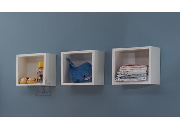 Mäusbacher Möbelfabrik Seinariiulite komplekt ADELE mattvalge, 29x20xH29 cm