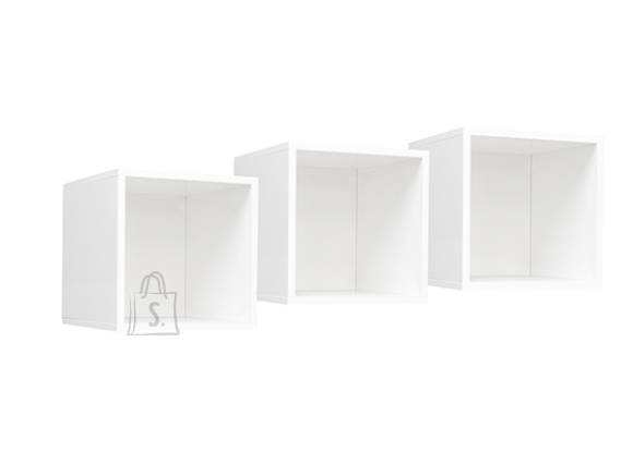 Mäusbacher Möbelfabrik Seinariiulite komplekt MIX BOX - 3 viimistlust, 32x32xH32 cm