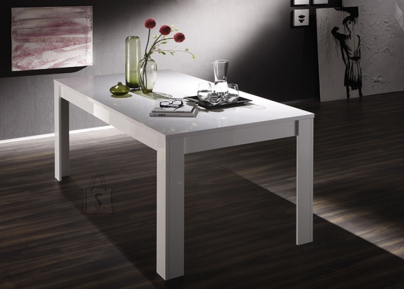 MCA Laud AMALFI valge läikega, 180x90xH76 cm