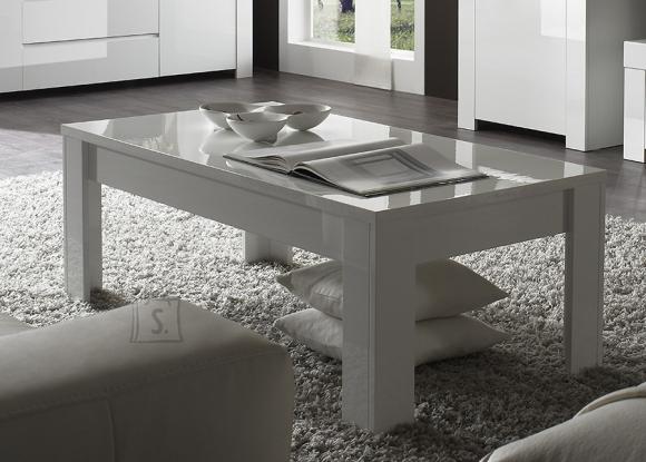 MCA Diivanilaud AMALFI valge läikega, 122x65xH45 cm