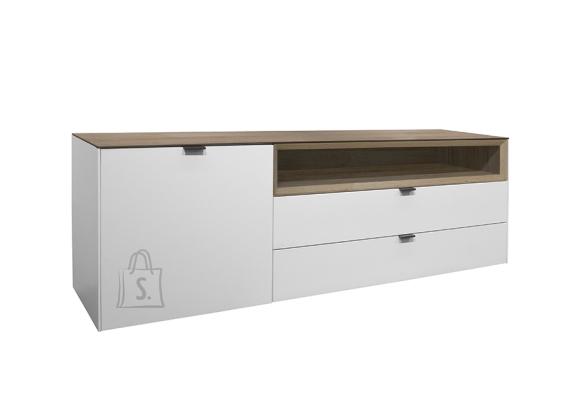 Mäusbacher Möbelfabrik Tv-alus DETROIT valge / tamm, 177x41xH60 cm