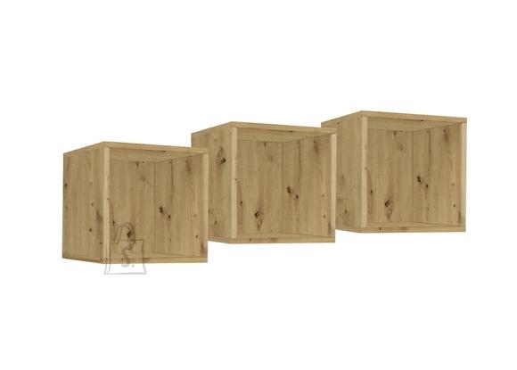 Mäusbacher Möbelfabrik Seinariiulite komplekt FRAME metsik tamm, 32x32xH32 cm