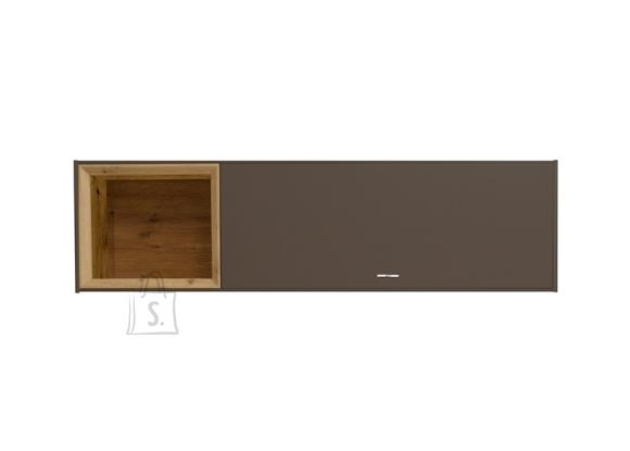 Mäusbacher Möbelfabrik Seinakapp FRAME tumepruun / metsik tamm, 35x32xH130 cm