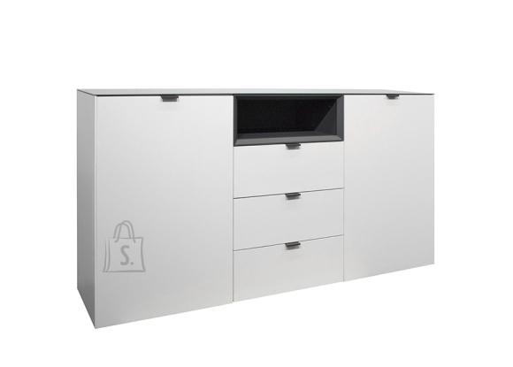 Mäusbacher Möbelfabrik Kummut MICELLI valge / antratsiit, 177x41xH97 cm