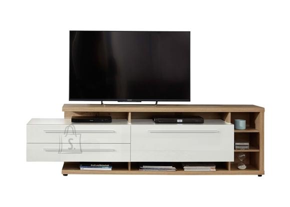 Trendteam TV-alus ODINO tamm / valge, 210x40xH62 cm LED