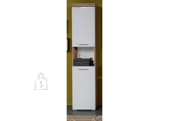 Trendteam Vannitoakapp AMANDA valge kõrgläige / tamm, 37x31xH190 cm