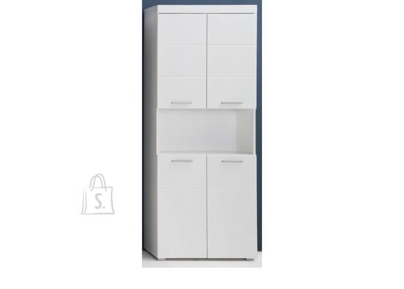 Trendteam Vannitoakapp AMANDA valge kõrgläige / valge, 73x31xH190 cm