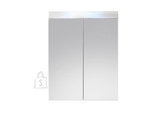 Trendteam Peegelkapp AMANDA valge läige, 60x17xH77 cm LED 36 cm