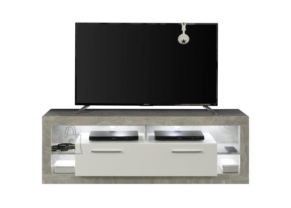 Trendteam Tv-alus ROCK valge läige / hall, 150x44xH48 cm