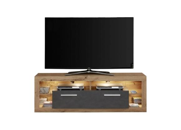 Trendteam Tv-alus ROCK tumehall / tamm, 150x44xH48 cm