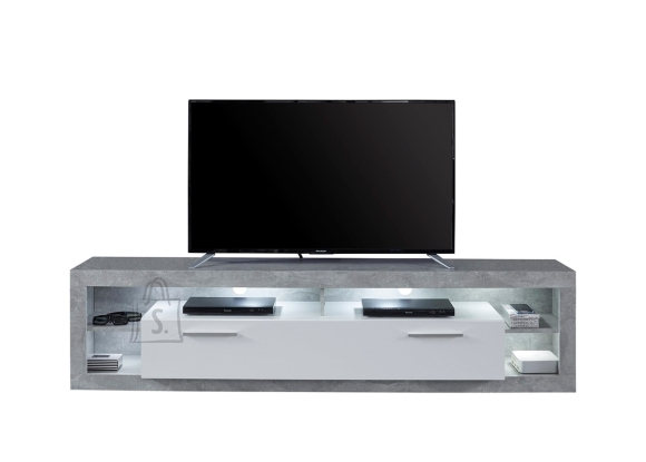 Trendteam Tv-alus ROCK valge läige / hall, 200x44xH48 cm