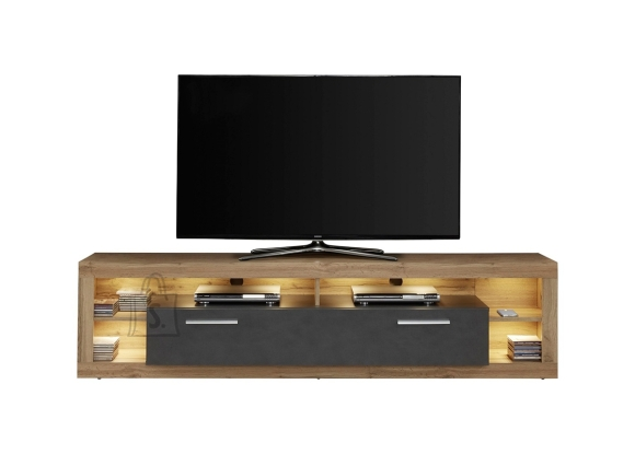 Trendteam Tv-alus ROCK tumehall / tamm, 200x44xH48 cm
