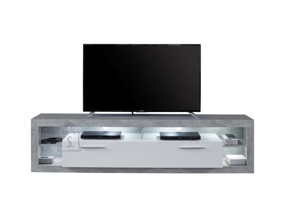 Trendteam Tv-alus ROCK valge läige / hall, 200x44xH48 cm, LED