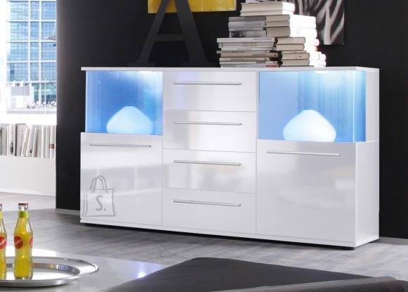Trendteam Kummut PUNCH valge läige, 141,5x40xH82 cm LED