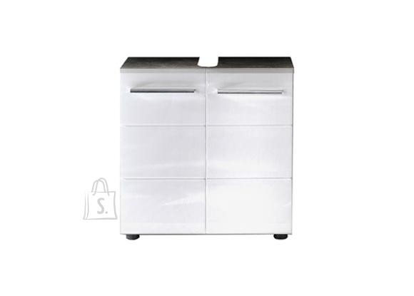 Trendteam Valamukapp NANO valge kõrgläige / hall, 60x28xH60 cm