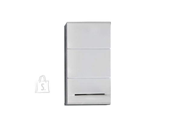Trendteam Seinakapp NANO valge kõrgläige / hall, 32x21xH61 cm