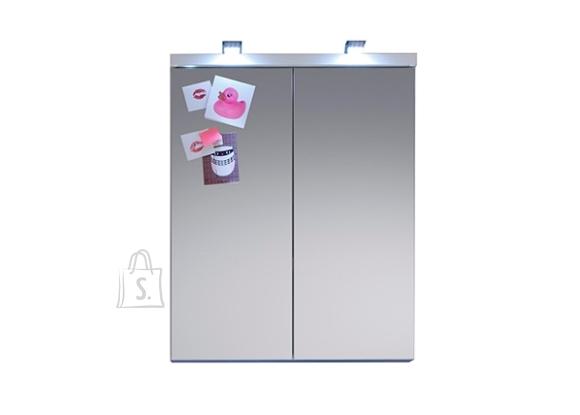 Trendteam Peegelkapp NIGHTLIFE valge kõrgläikega, 65x21xH80 cm