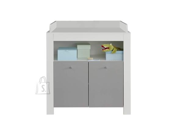 Trendteam Kummut mähkimisalusega PIA valge / hall, 96x69xH101 cm