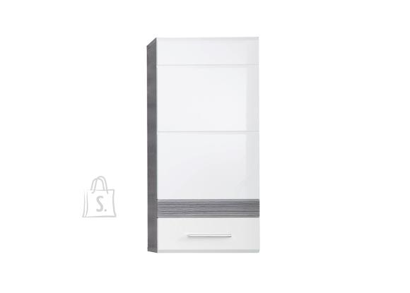 Trendteam Seinakapp SET-ONE valge läige / tumehall, 37x24xH77 cm