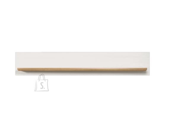 Trendteam Seinariiul SHADE valge mänd / tamm, 146x21xH25 cm