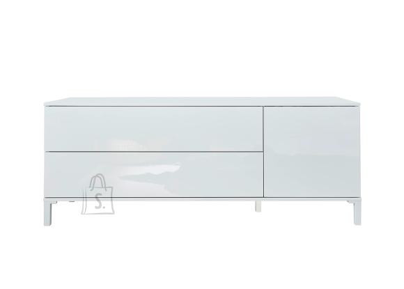 Trendteam Tv-alus SHELDON valge läige, 130x34xH50 cm