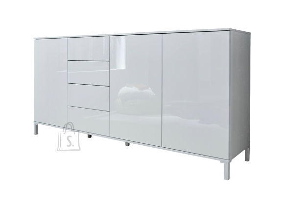 Trendteam Kummut SHELDON valge läige, 174x40xH84 cm