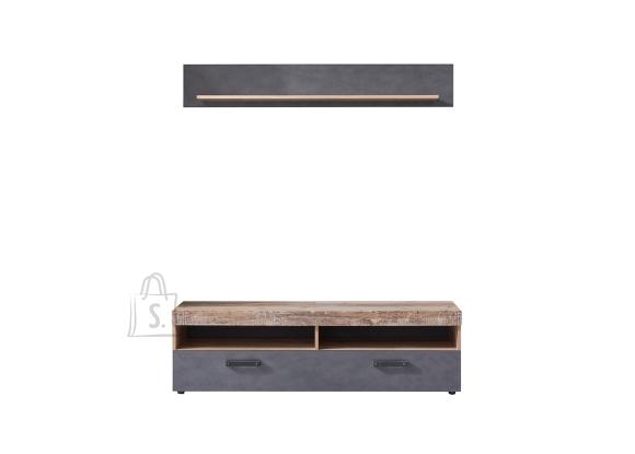 Trendteam Tv-alus + seinariiul TAILOR grafiithall / tamm, 139x40xH41 cm