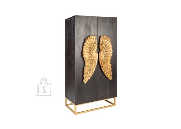 Kapp ANGEL must / kuldne, 70x45xH140 cm