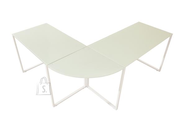Kirjutuslaud BIG DEAL valge, 180/160x60xH75 cm