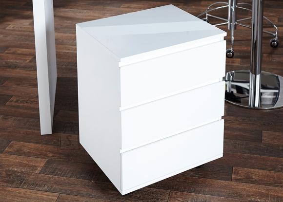 Sahtliboks BIG DEAL valge läige, 45x40xH63 cm