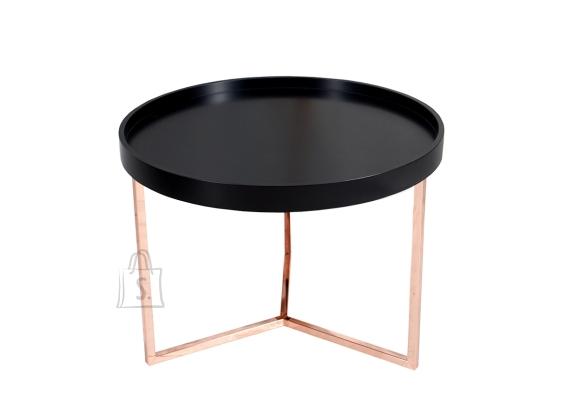 Diivanilaud MODULAR must / vask, 60x60xH45 cm