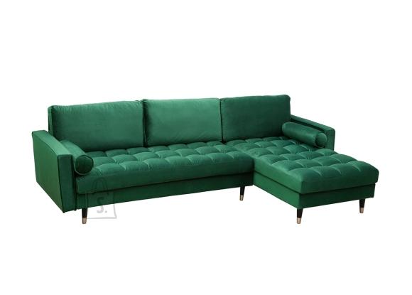 Nurgadiivan VELVET II roheline, 260x83xH85 cm