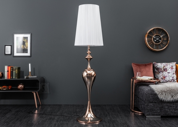 Põrandavalgusti LUCIE rose gold, 40x40xH160 cm, E27