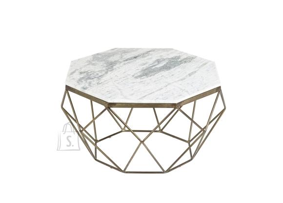 Diivanilaud DIAMOND valge marmor, 69x69xH38 cm