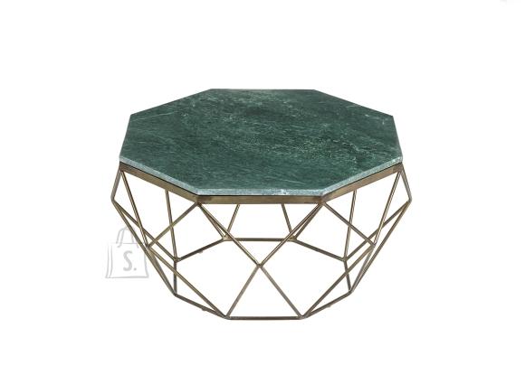 Diivanilaud DIAMOND roheline marmor, 69x69xH38 cm