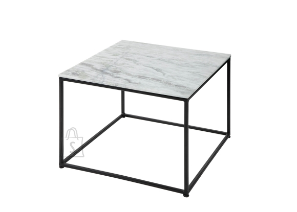 Diivanilaud ELEMENTS valge marmor, 50x50xH41 cm