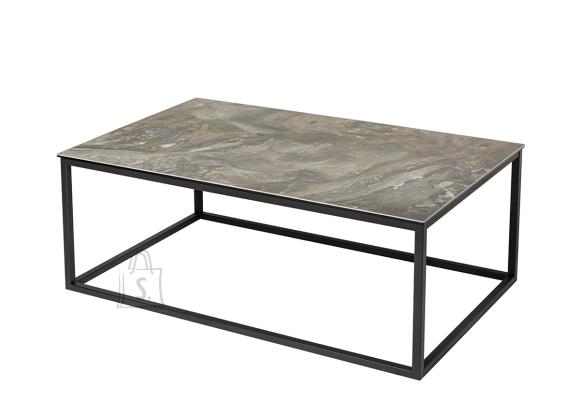 Diivanilaud SYMBIOSIS marmor / must, 100x60xH40 cm