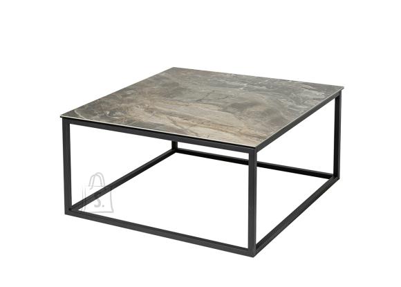 Diivanilaud SYMBIOSIS marmor / must, 75x75xH40 cm
