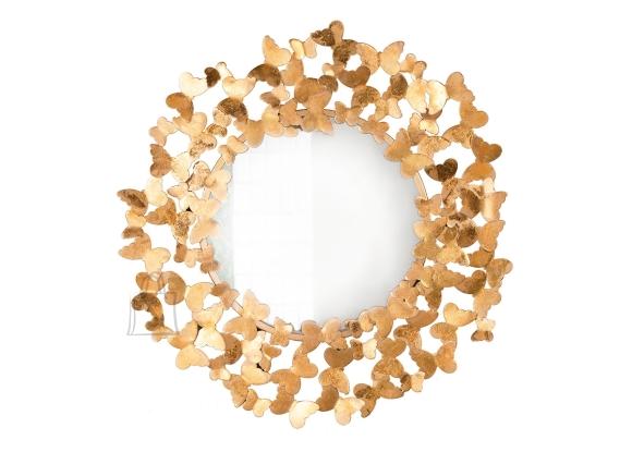 Seinapeegel BUTTERFLY kuldne, 78x2xH78 cm