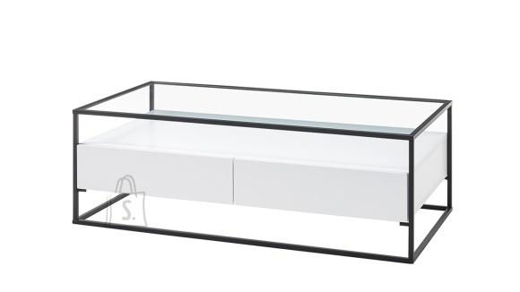 MCA Diivanilaud EVORA valge / must, 120x60xH40 cm