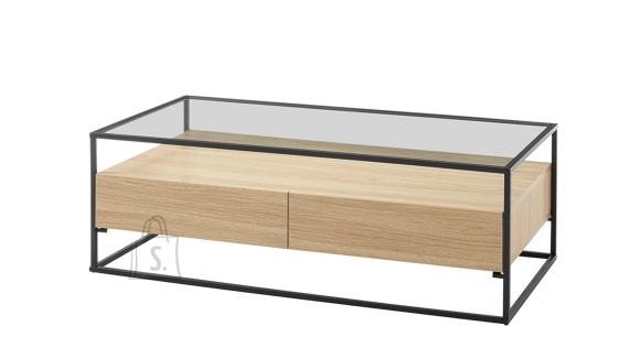 MCA Diivanilaud EVORA tamm / must, 120x60xH40 cm