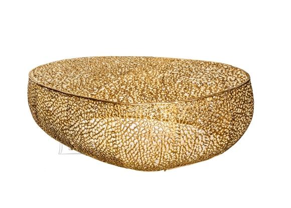 Diivanilaud LEAF kuldne, 122x69xH42 cm