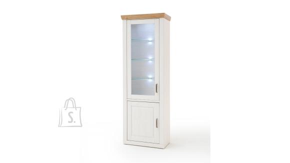 MCA Vitriinkapp BRIXEN valge mänd / tamm, 73x40xH210 cm