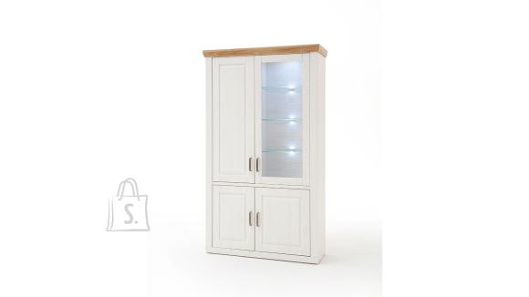 MCA Vitriinkapp BRIXEN valge mänd / tamm, 118x40xH210 cm