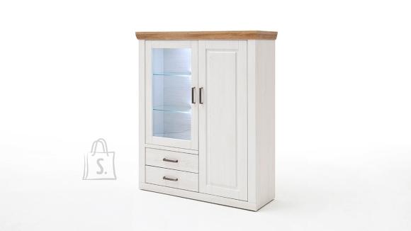 MCA Vitriinkapp BRIXEN valge mänd / tamm, 118x40xH142 cm
