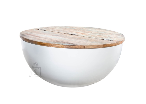 Diivanilaud JAKARTA pruun / valge, D70xH33 cm