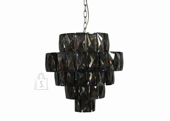 Rippvalgusti CRYSTAL tumehall, D50xH51 cm