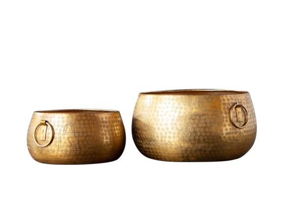 Lillepottide komplekt ORIENT kuldne, 2 tk