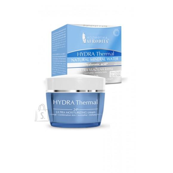 """Afrodita Näokreem """"Hydra Thermal 24h"""" mineraalvee- ja hüalurooniga normaalsele nahale50 ml"""